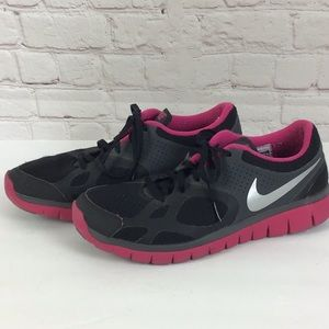 Nike Free 5.0 Shield Dark Charcoal/Silver/Pink 8.5